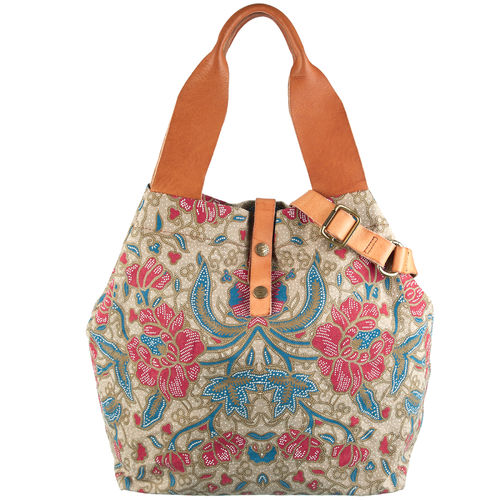 Campomaggi Shopper Canvas flower