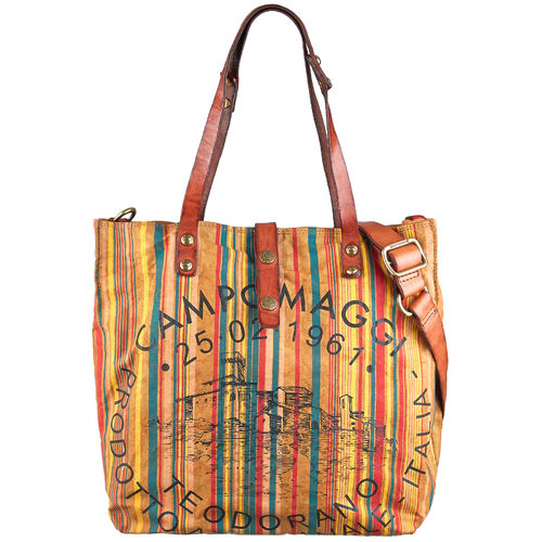 Campomaggi Shopper Canvas Manico L striped