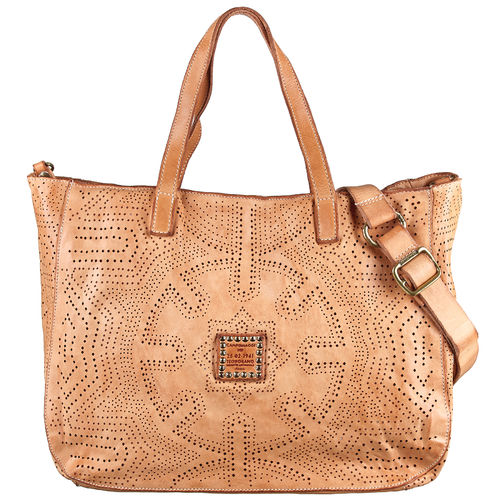 Campomaggi Shopper perforiert beige